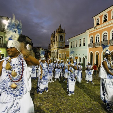 Salvador de Bahia carnival goes late into the night.