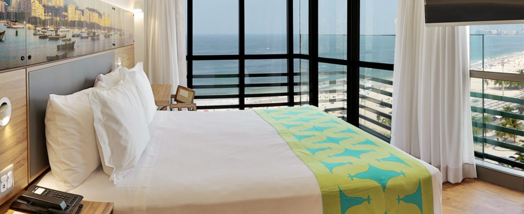 Ocean view room in Hotel Arena Leme.