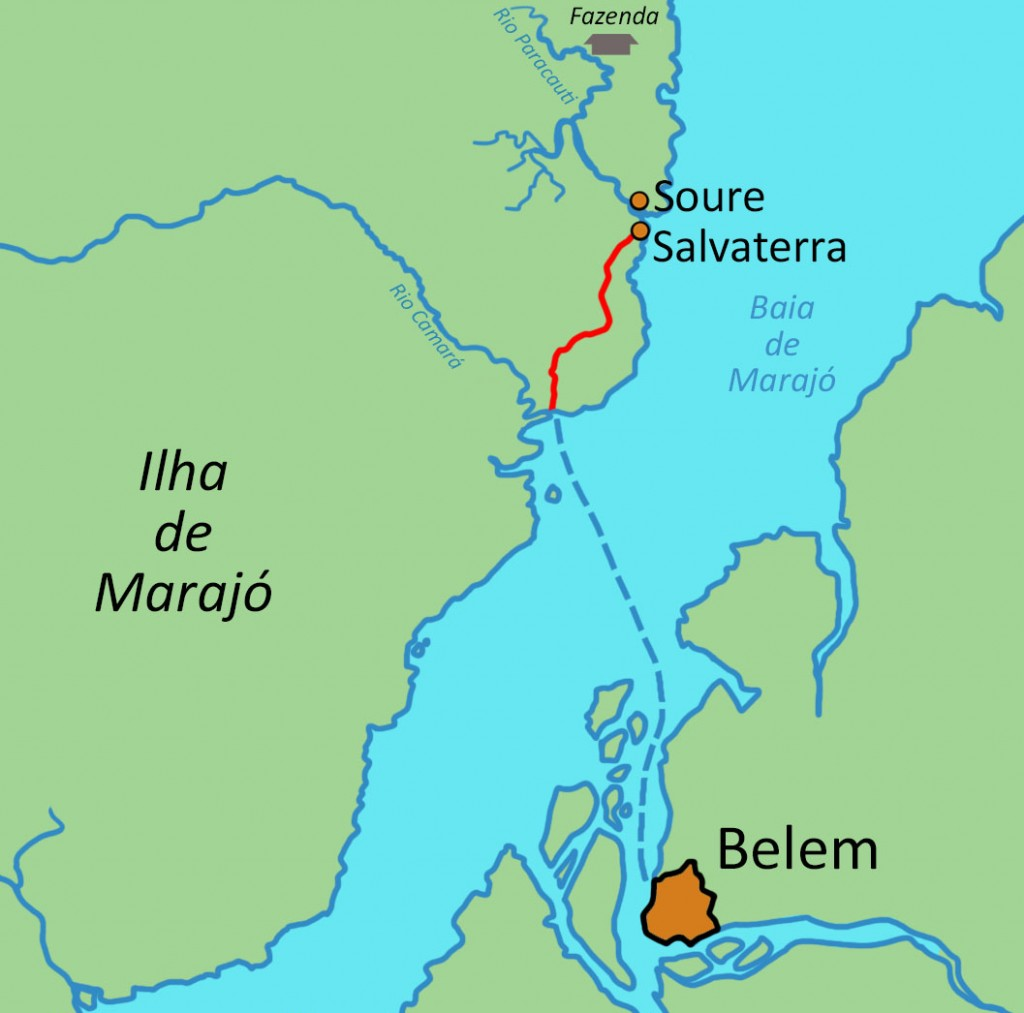 Map of Belém and Marajó.