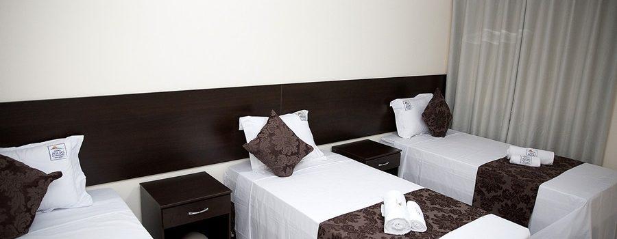 Triple room in hotel aguas do Pantanal.
