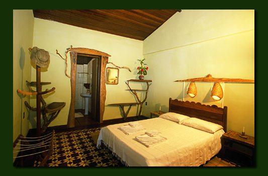 Pantanal Eco lodge room.