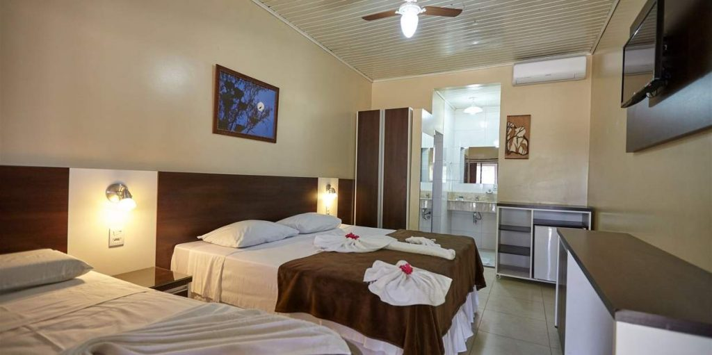 Double room in pousada piuval in Pantanal.
