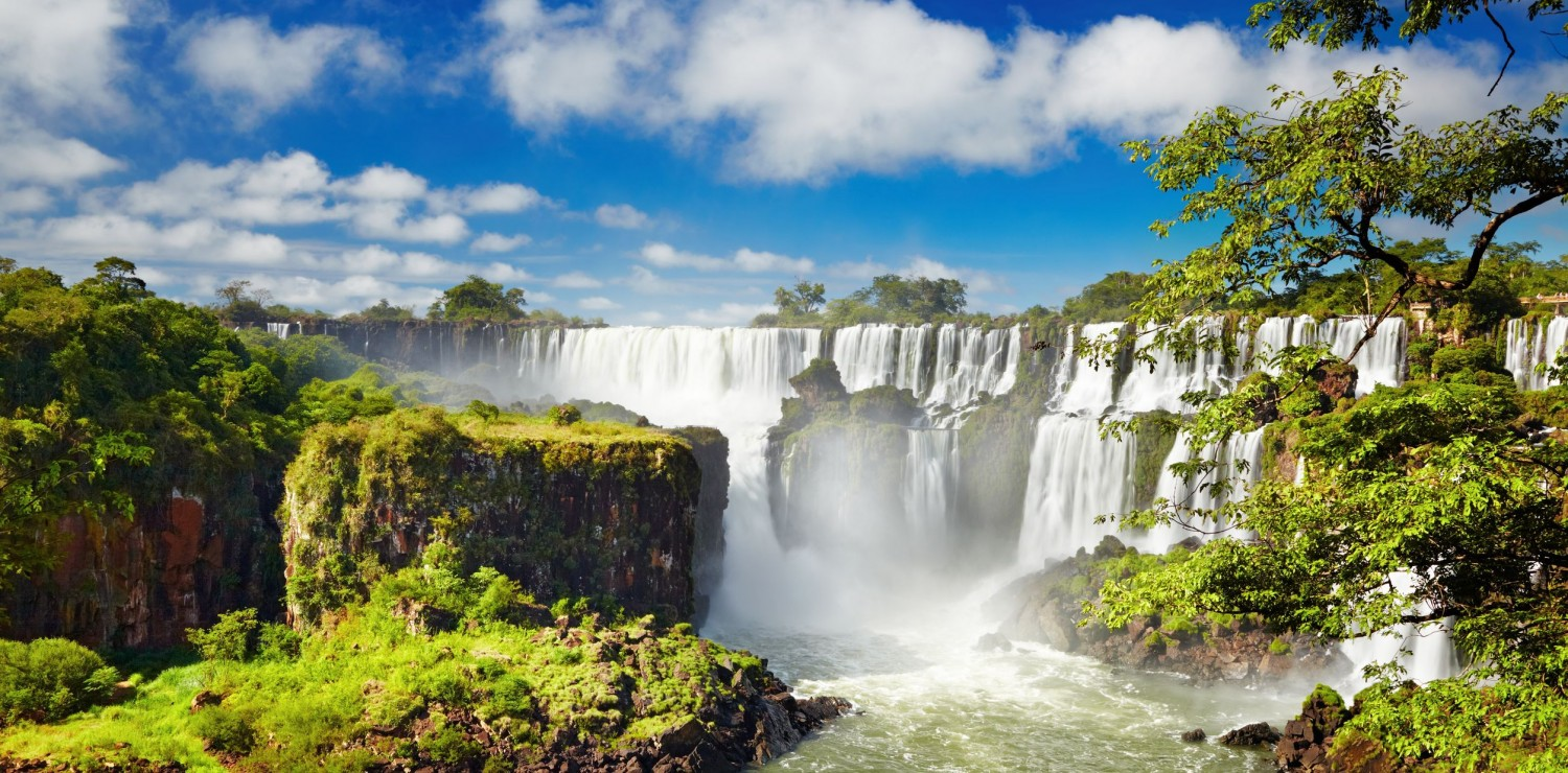 Iguazu Falls and Rock Block