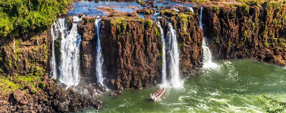 Multi level waterfall at Iguassu.