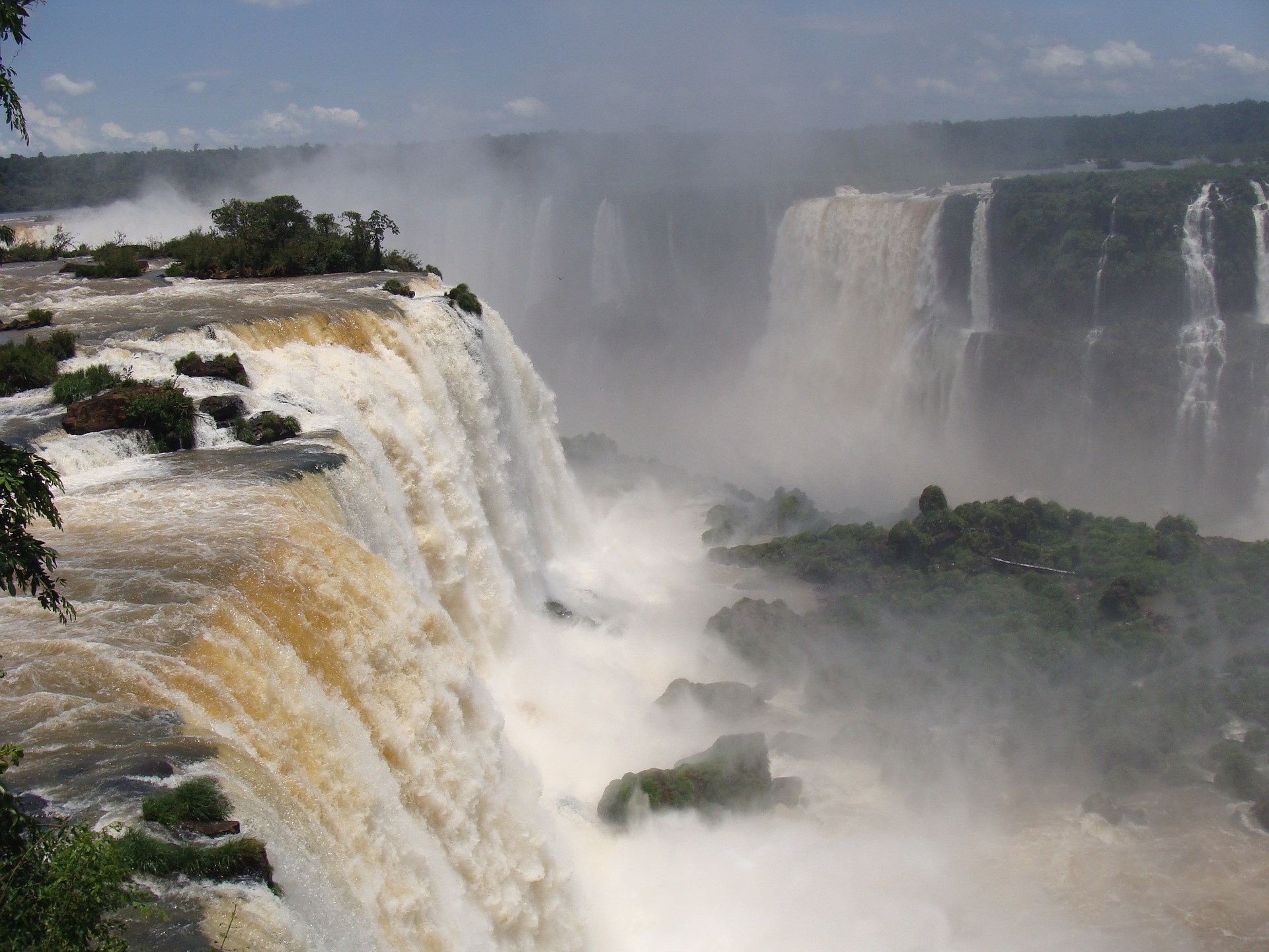 The famous devil's throat at the Iguassu falls.