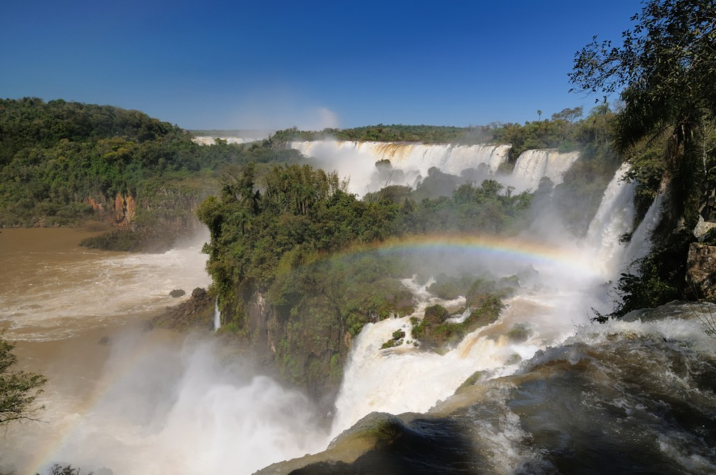 The Brazilian side of Iguaçu falls.