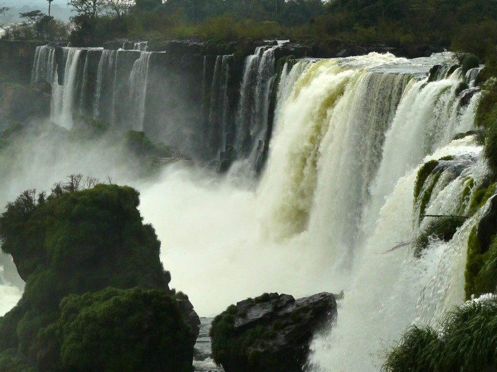 The Argentinian side of the Iguaçu falls.