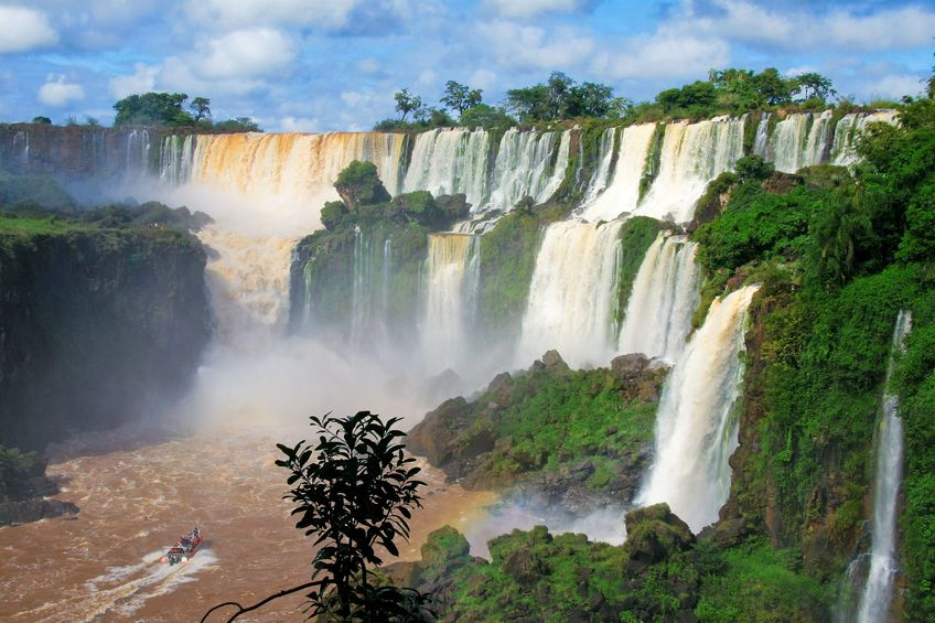 The captivating Iguaçu falls in Brazil.