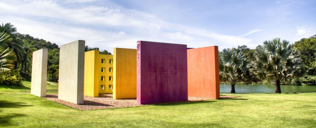 A colourful sculpture at Inhotim in Minas Gerais.