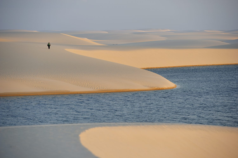 Lençois Maranheses, the desert filled with beautiful blue lagoons.