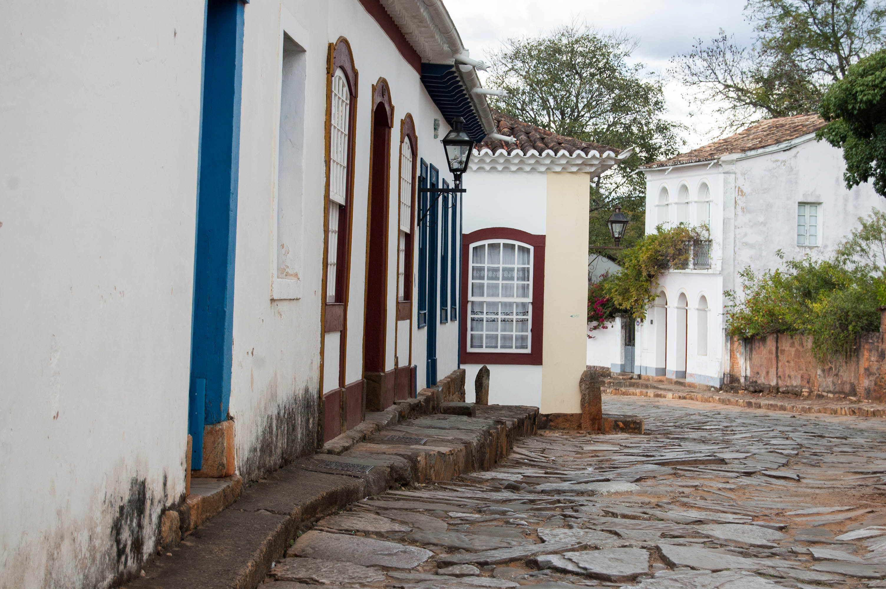 Shot looking down a street in Tiradentes.