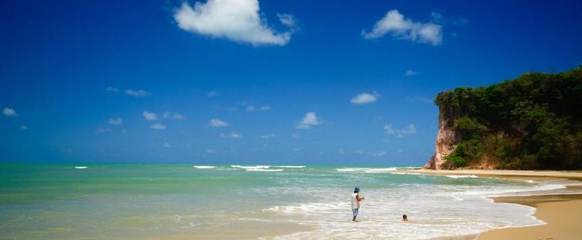 A sunny beach on the Nordeste of Brazil.