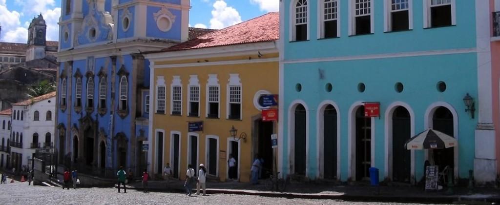 The colourful buildings of Pelourinho in Salvador de Bahia.