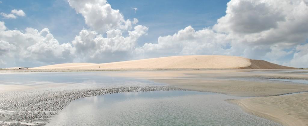 Shimmering lagoon in Nordeste Brazil.