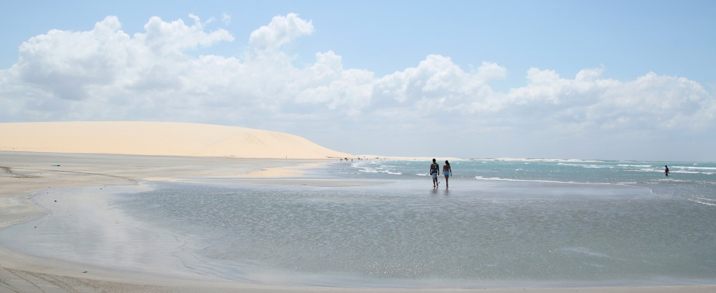 Wandering on the beaches of Jericoacoara.