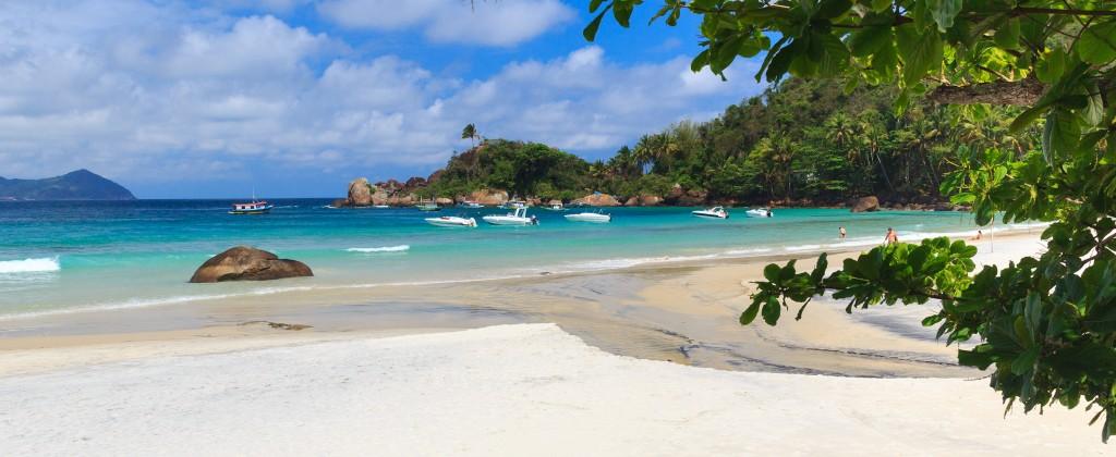 One of the beautiful beaches of Ilha Grande.