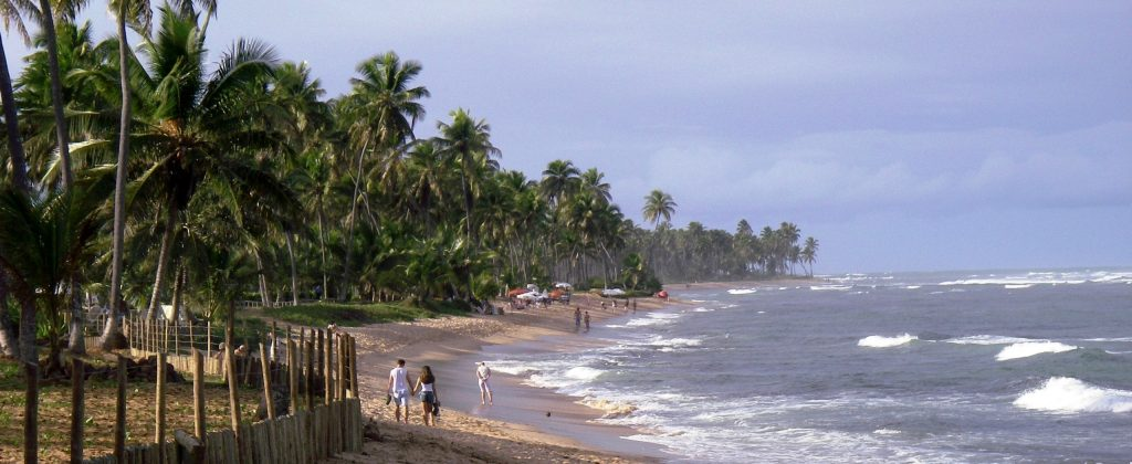 Shot showing praia do forte, Bahia, Brazil.