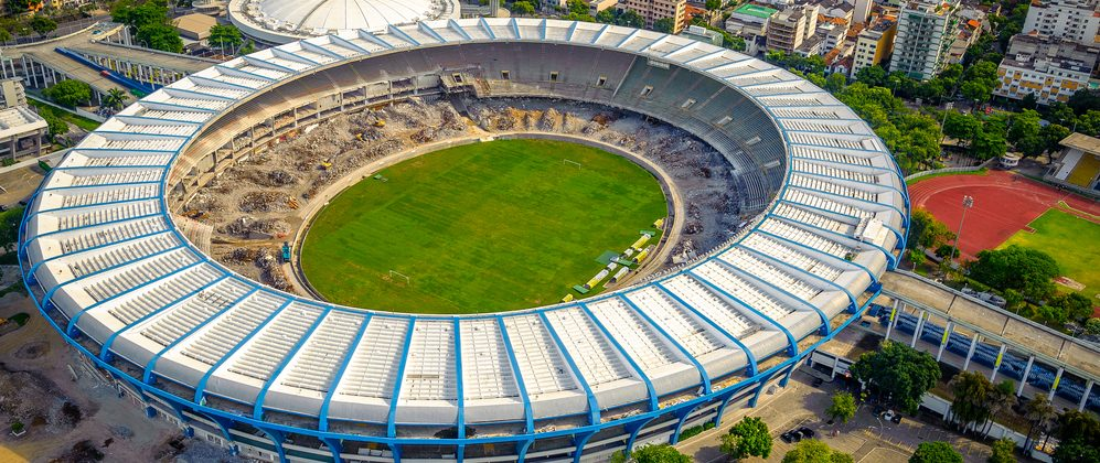 Maracana stadium from above.