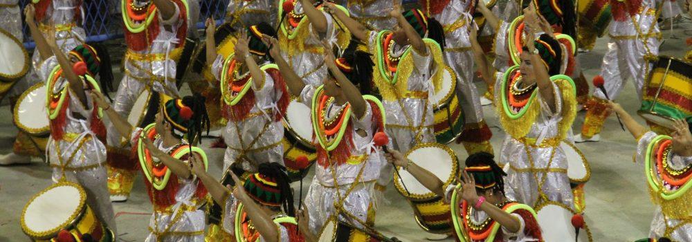 Samba schools at the carnival of Rio de Janeiro.