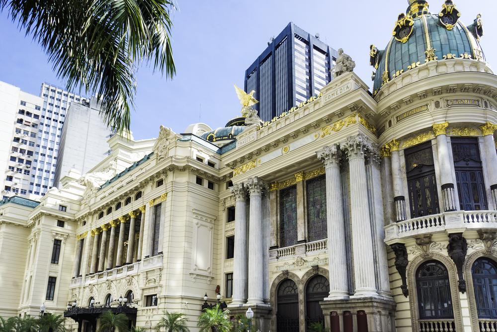 The majestic theatre in Rio de Janeiro.