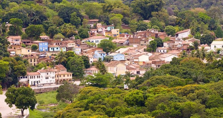 Small town of Lençois from above.