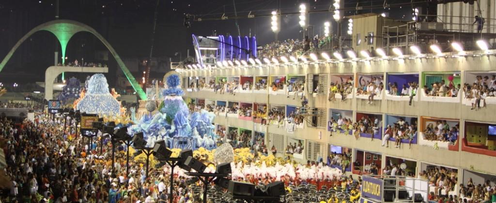 A packed sambadrome in Rio de Janeiro.