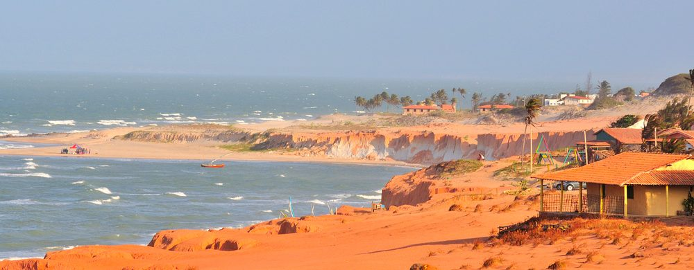 A view from the cliffs at Canoa Quebrada.