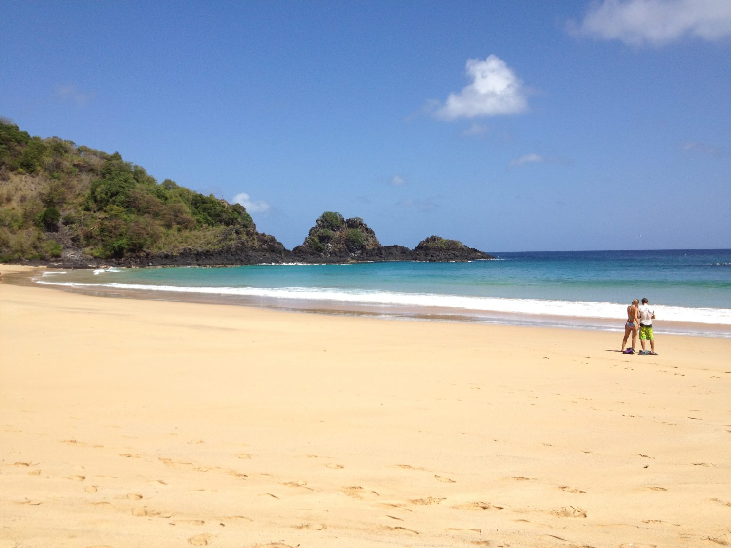 Long sandy beaches at Fernando de Noronha.