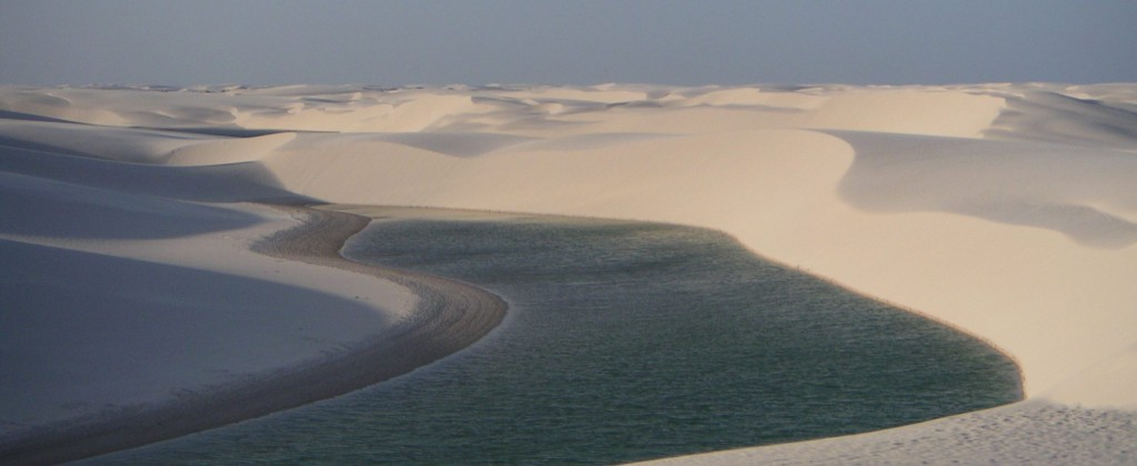 One of the lagoons in the Lençois do Maranhão.