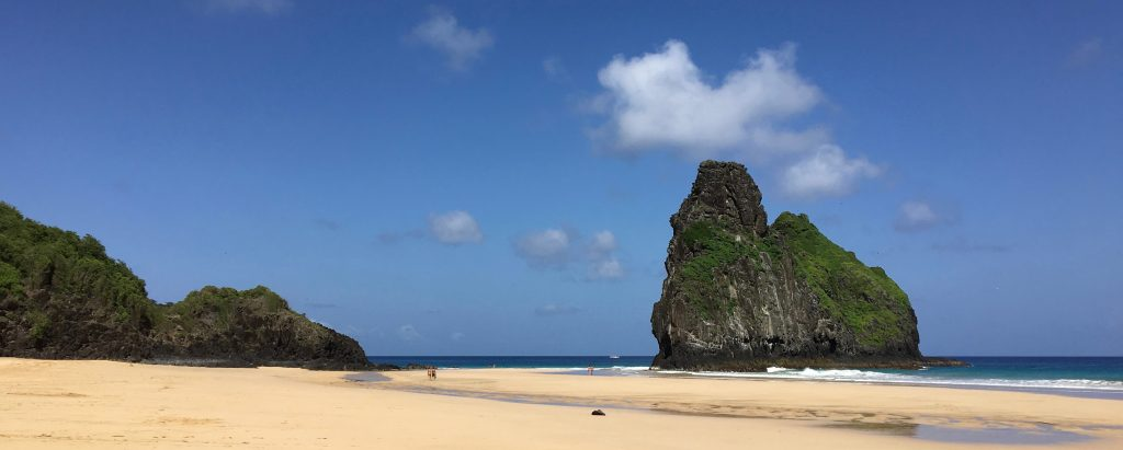 One of the beaches of Fernando de Noronha.