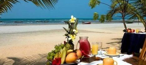 Breakfast on the beach at My Blue in Jericoacoara.