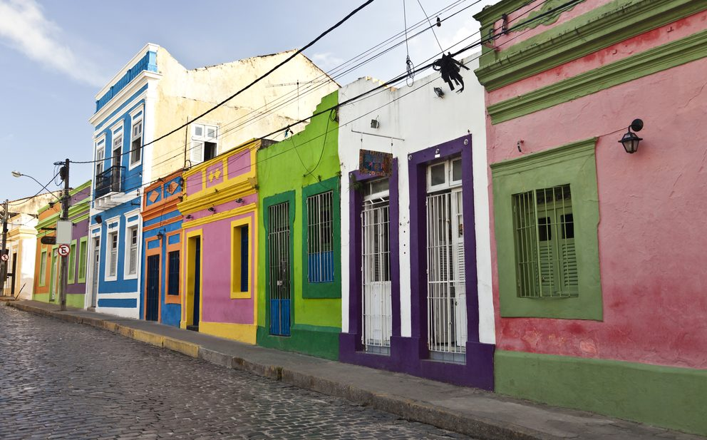 Colorful houses line the streets of Olinda.