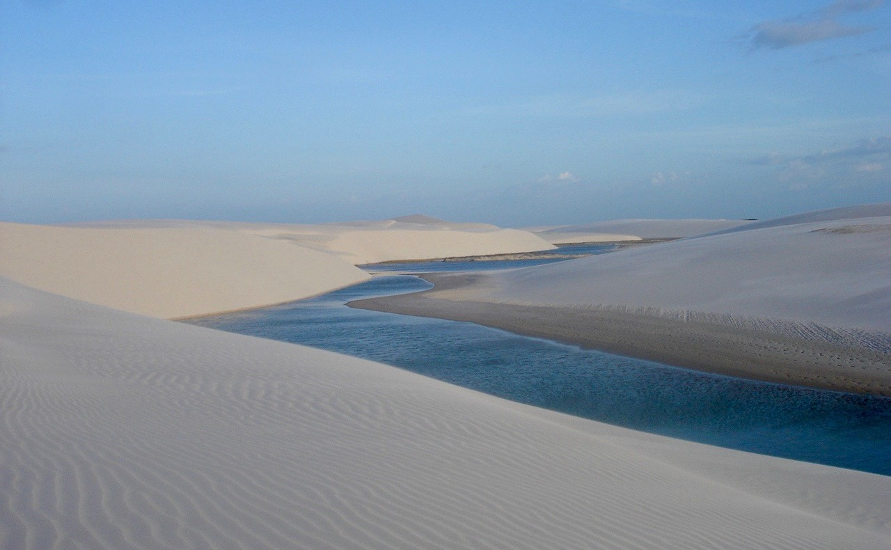 Lençóis Maranhenses with its shimmering blue lagoons.