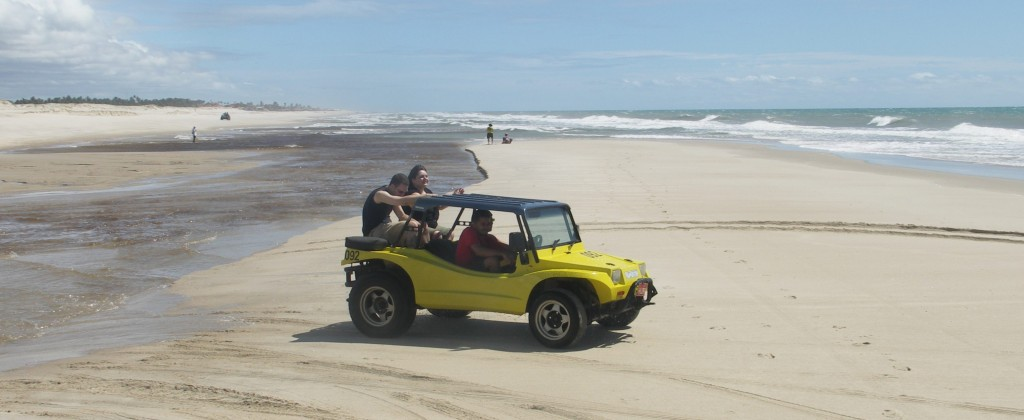 A dune buggy ready to travel along the beaches.