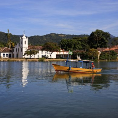 View of paraty church.