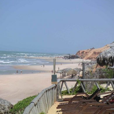 Canoa Quebrada beach.