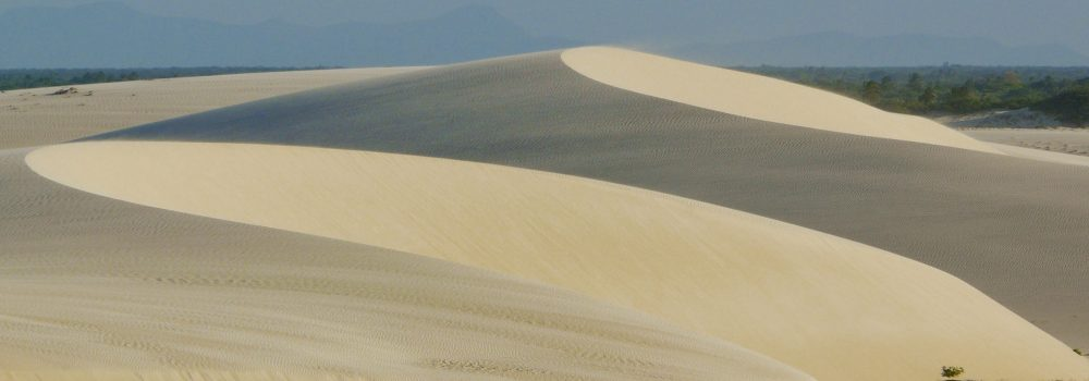 The dunes at Jericoacoara shaped by the wind.