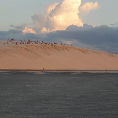 Sunset dune at Jericoacoara.