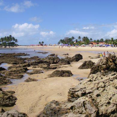 la première plage de Morro de Sao Paulo