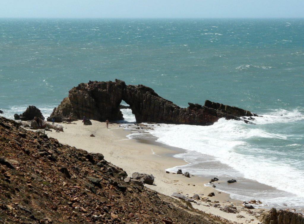 The pierced rock in Jericoacoara.