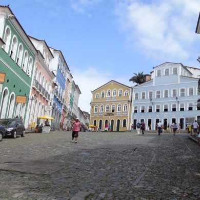 The center of Salvador de Bahia and of Afro - Brazilian culture, Pelourinho.