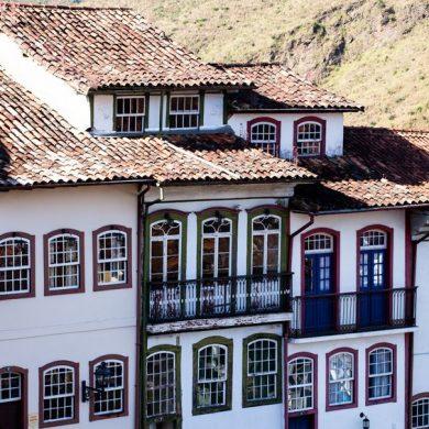 Minas gerais façades de couleur  Ouro Preto
