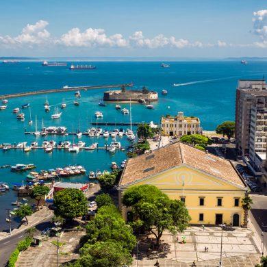 Vue de la baie de Salvador depuis la praça da se