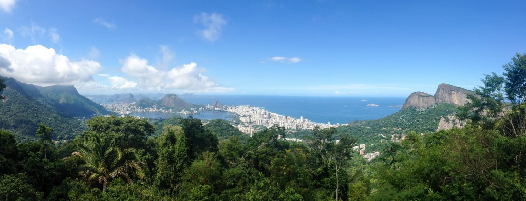view of Rio de Janeiro from the forest of Tijuca