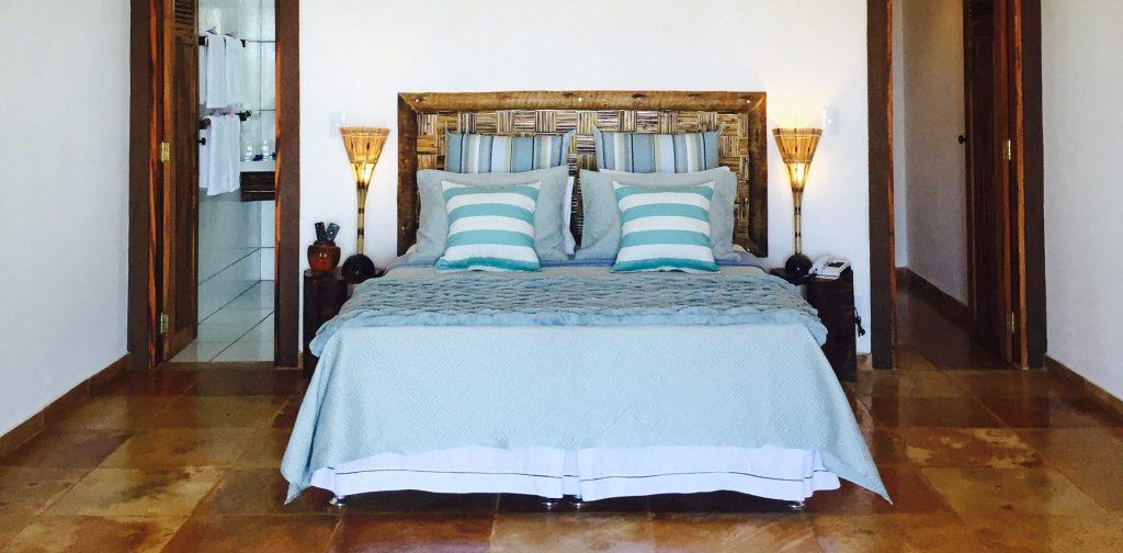Double bedroom in Rede beach resort in Guajiru.
