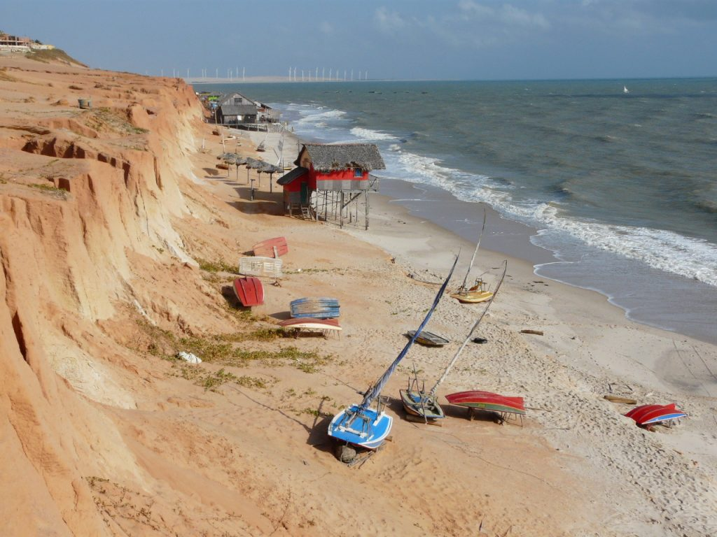 Canoa Quebrada on a windy day.