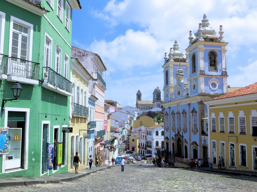 Salvador de Bahia, an iconic town in Brazil.
