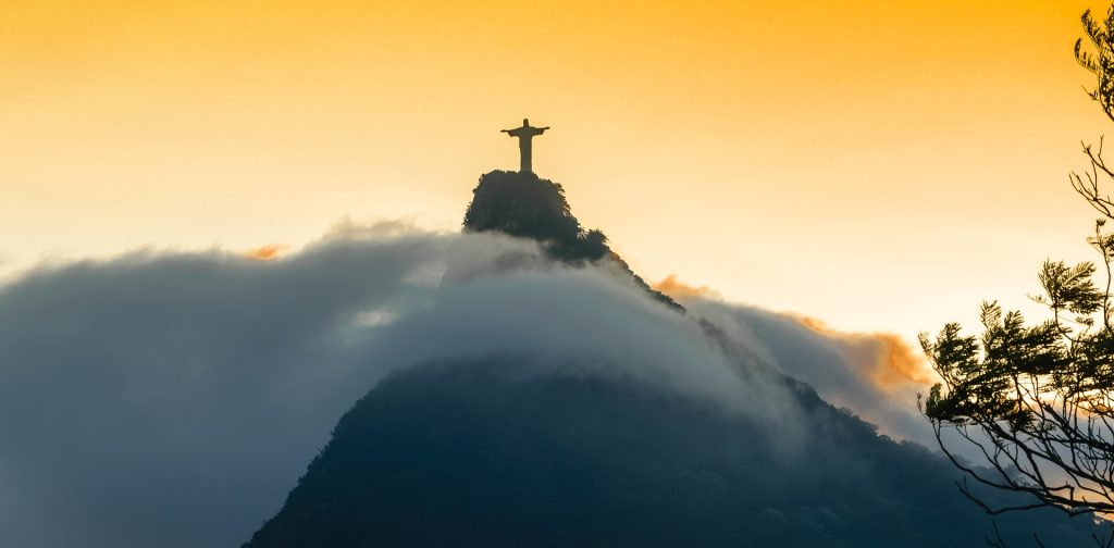 Christo Redentor stands above the clouds in Rio.