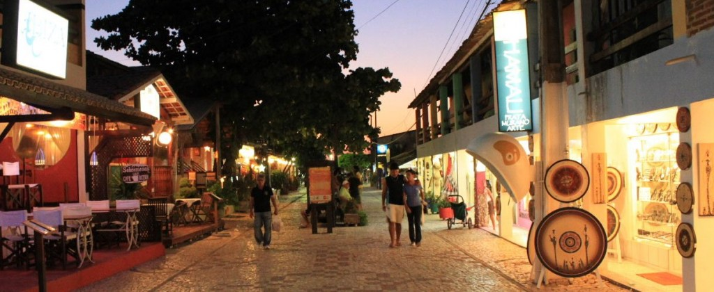 street of Canoa quebrada