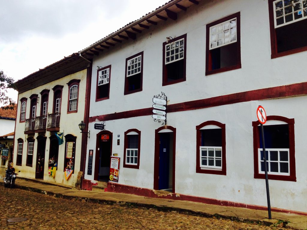 Colonial houses in Ouro Preto.